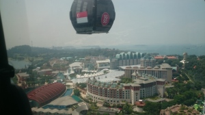 Wheee.. the view of Sentosa!