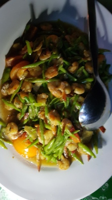 French beans and prawns!