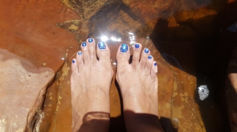 Sparkling in the water!